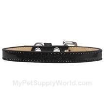Mirage Pet Products Plain Ice Cream Dog Collar, Size 8, Black - $21.76