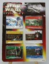 Star Wars Episode I Christmas Birthday 30 Foil Leaf Gift Tags NIP - $9.87