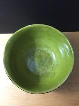 """Vintage 50s Tlaquepaque Mexican Pottery 9 1/2"""" Salad Bowl image 4"""