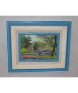 Great Vintage Oil Painting Indian Paint Brushes And Blue Bonnets BRENDA ... - $47.22