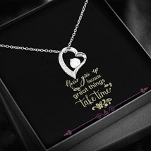 Never Give Up - Black Jewellery Box Insert with an Elegant Love Heart Pe... - $49.49+