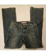 Aeropostale Kailey Skinny Flare Size 3/4 Regular Blue Jeans Juniors Medi... - $13.54