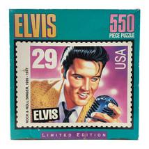 Elvis Presley Puzzle Limited Edition Milton Bradley 550 pieces 1992 Seal... - $7.71