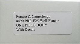 Funaro & Camerlengo HO PRR PRR F25 Well  flatcar  kit 8490 image 3