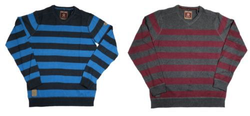 Point Zero Black Label Men's V-Neck Striped Sweater Long Sleeve Semi-Fit 5713465