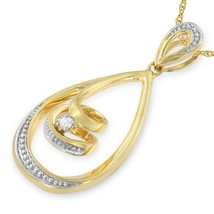 10k Yellow Gold Diamond Accent Fashion Pendant - $403.65