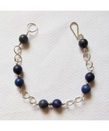 Sterling Silver and Lapis Lazuli Bracelet with Ininifty Links - $30.00