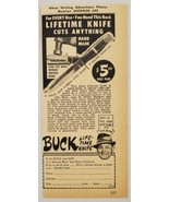 1947 Print Ad Buck Lifetime Knives Made in San Diego,California - $9.88