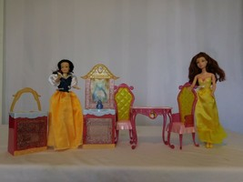 "Disney Princess Belle's Dining Set_For Doll 11"" Furniture + Snow White +... - $17.84"