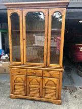 China Cabinet with Lighted Top Hutch Bottom Sideboard Local Pickup Only - $123.75