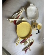 Vintage Plastica Toy Dishes And Utensils - $19.99