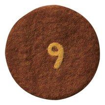 Tokyo Matcha Selection - Felt Coaster : 9 Brown [Standard shipping by SAL: NO... - $7.90