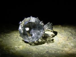 MAJESTIC WHITE QUEEN WATCHER DEMON Antique Topaz Sterling Ring izida hau... - $999.00