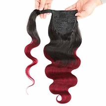 Seelaak Ombre 99j Body Wave Pony tail Remy Human Hair Ponytail Extension... - $29.16