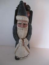 VTG Resin Santa Claus 1996 EZ E. Zimmerman Old Time Woodsman Santa Figure - $12.86