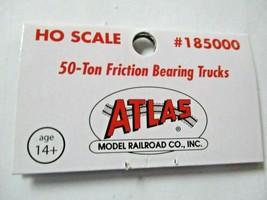 Atlas # 185000 Friction Bearing 50 Ton Trucks 1 Pair  HO Scale image 2