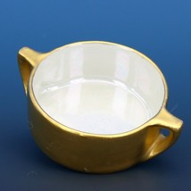 Vintage Open Salt Dip Cellar Made in Japan Heavy Gold Pearlized Interior image 1