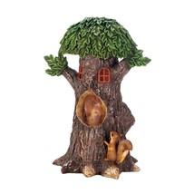 Solar Statues, Playful Squirrels Treehouse Garden Small Lawn Solar Yard ... - $34.49