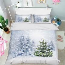3D Snowing Pine Road 26 Bed Pillowcases Quilt Duvet Single Queen King US Lemon - $102.84+
