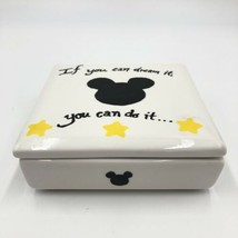 Disney Trinket Jewelry Box If You Can Dream It You Can Do It Ceramic Box  - $14.84