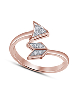 14k Rose Gold Filled 925 Pure Silver Women's New Engagement ARROW Style ... - $14.99