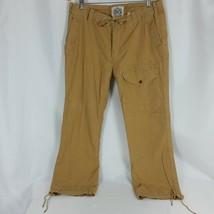 Polo Ralph Lauren Mens Brown Drawstring Pants Thick Cotton 36 x 30 Bike ... - $39.99