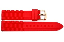 20MM Bright Red Silicone Jelly Rubber Sport Watch Band Fit Fossil Riley - $12.38