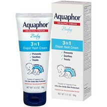 Aquaphor Baby Diaper Rash Cream 3.5 Ounce - Pediatrician Recommended Brand Pack