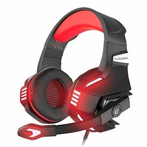 VersionTECH. Stereo Gaming Headset for Xbox One, PS4, PC, Noise Isolating (Red) - $38.53