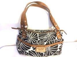 Relic Brand Collection Black and White Flower Canvas Handbag - $19.02 CAD