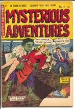 Mysterious Adventures #4 1951-Story-AC Hollingsworth horror art-pre-code-G- - $70.33