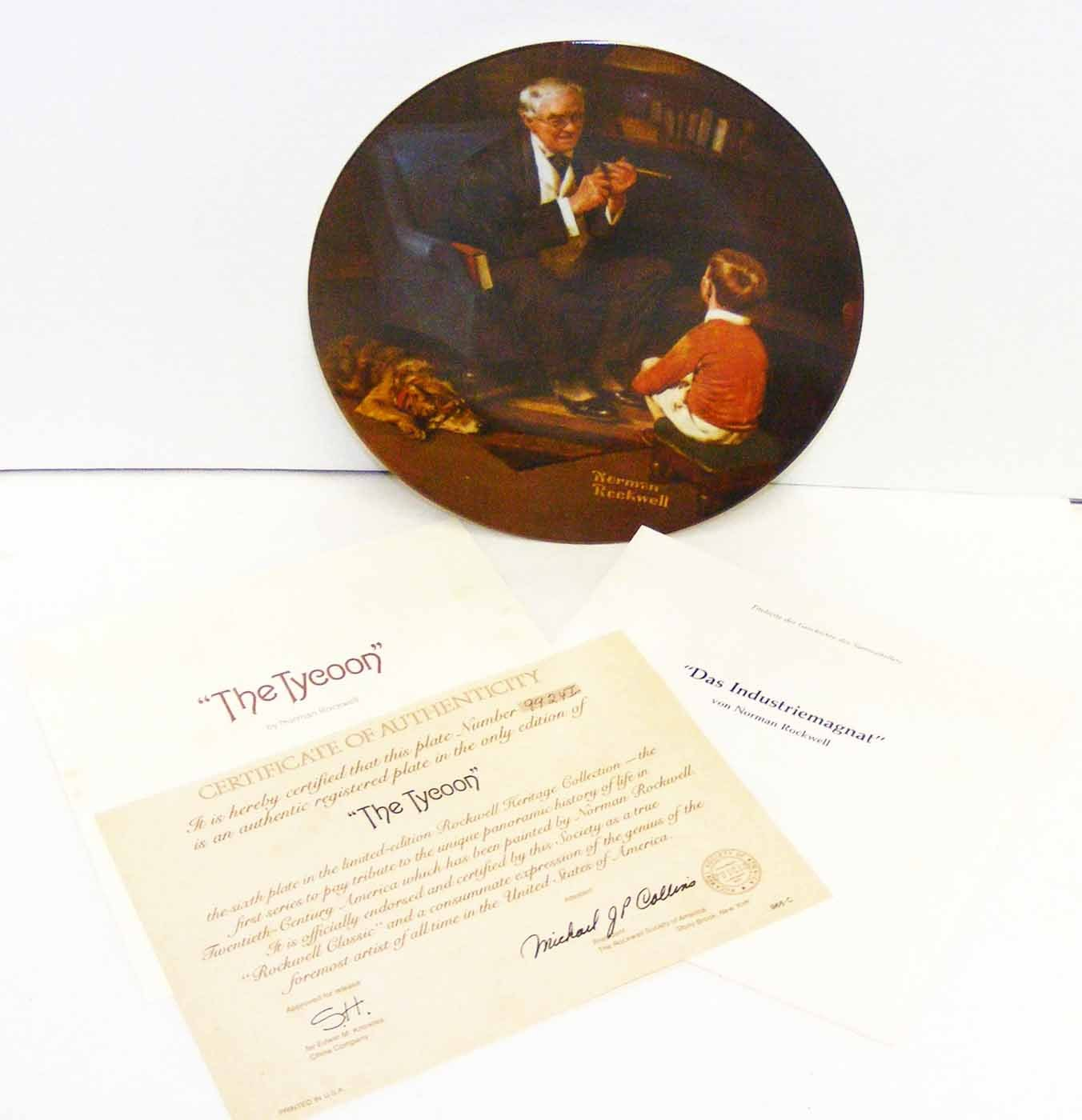 Vintage Knowles Plate Norman Rockwell's THE TYCOON