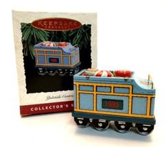 Hallmark 1995 Yuletide Central Keepsake Ornament Candy Car 2nd Collector... - $5.45