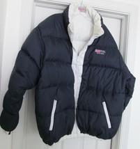 Foxland Sport Puffer Ski Jacket Coat Down Reversible USA Flag Navy White... - $49.95