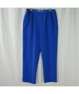 Brenda Goode Blue Pants Women's XL Elastic Waist Loose Fit Vintage Made ... - $49.45