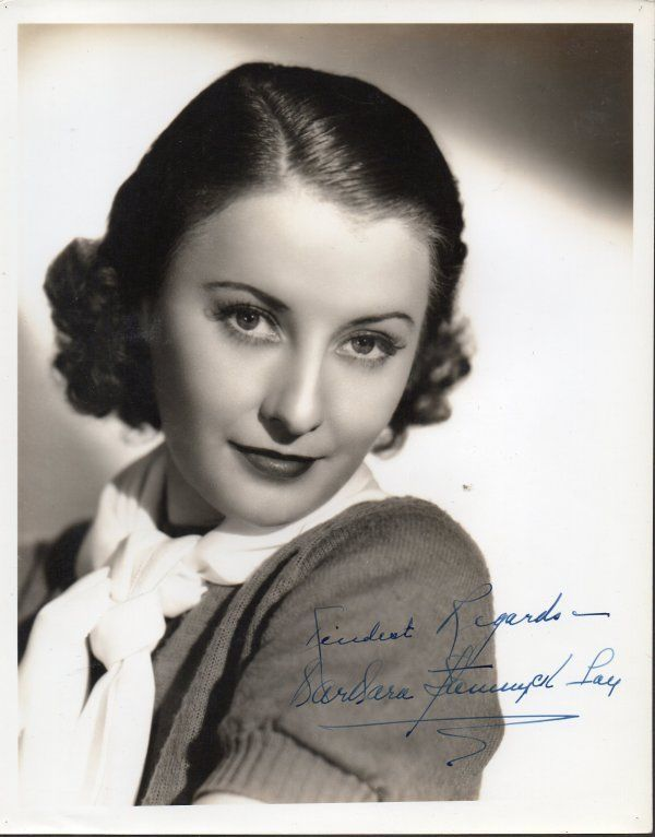 BARBARA STANWYCK Signed photograph, fine autograph. Signed Barbara Stanwyck Fay