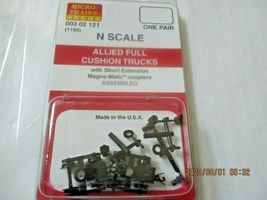 Micro-Trains Stock # 00302121 (1190) Allied Full Cushion Trucks Short Extension image 4
