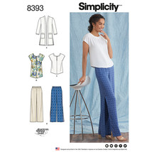 Simplicity Misses & Womens Pants Tunic Or Top & Cardigan-10-12-14-16-18 - $14.96