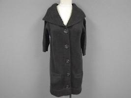 VINCE Chocolate Brown Wool Blend Chunky Button Down Cardigan Sweater Sz ... - $740,84 MXN