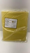 Vintage Sears Solid Color Perma Prest Muslin Yellow Full Size Flat  Shee... - $14.80