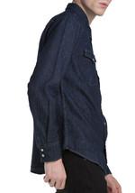 Levi's Men's Classic Barstow Western Casual Denim Dark Wash Dress Shirt image 2
