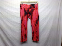 Pink Red Black Stretchy Workout Pants Sz S