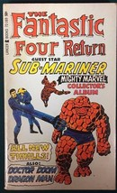 THE FANTASTIC FOUR RETURN (1967) Lancer pb B&W comics by Jack Kirby VG+ - $19.79
