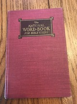 The National Word Book For Bible Users Ships N 24h - $27.70