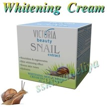 Victoria Beauty Whitening Cream 50ml with Snail Extract Hydrates Nourishes - $14.35