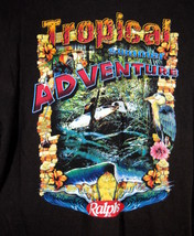 T-Shirt Tropical Summer Adventures Graphic 2XL Brown Surfing Tee Shirt R... - $14.95