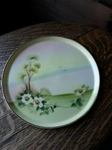 Nippon Hand-Painted Floral Vanity Dresser Pin Tray Dish with Gold trim Morimura - $22.10