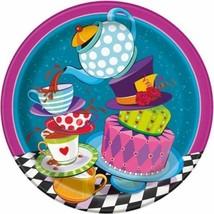 "Mad Hatter Tea Party 8 Ct 9"" Dinner Lunch Plates Alice Wonderland - $3.19"