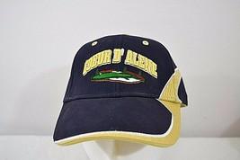 Coeur D' Alene Golf Course Idaho Blue/Gold Baseball Cap Adjustable Back - $23.99