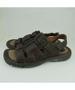 Born Mens Fisherman Sandals Brown Leather Strappy Size 11W Open Toe Shoes - $26.17